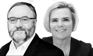 Ejner K. Holst, næstformand, Fagbevægelsens Hovedorganisation, FH, og Charlotte Jepsen, adm. dir., FSR – danske revisorer