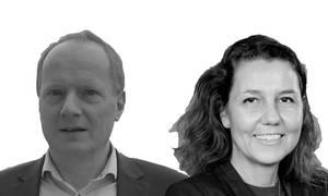 Poul Melgaard Jensen, direktør Danish Seafood Association, og Anne Mette Bæk, direktør Marine Ingredients Denmark