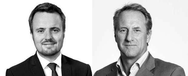 Simon Kollerup, erhvervsminister, og Lars Sandahl Sørensen, adm. direktør i DI