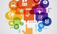 EU's erhvervsliv gør flittigt brug af de sociale medier. Illustration: Eurostat
