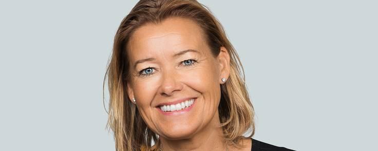 Berit Behring har mange års erfaring fra flere udenlandske banker, fra Nordea og har været i Danske Bank siden 2007. Nu rykker hun op på en af de allerøverste direktionsposter som chef for Wealth Management. Foto: Danske Bank