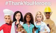 Mattel har under coronakrisen lavet et Barbie-tema over de faggrupper, der blev helte under pandemien. Men Mattel selv har slået sig økonomisk ret hårdt på coronakrisen. Foto: Mattel