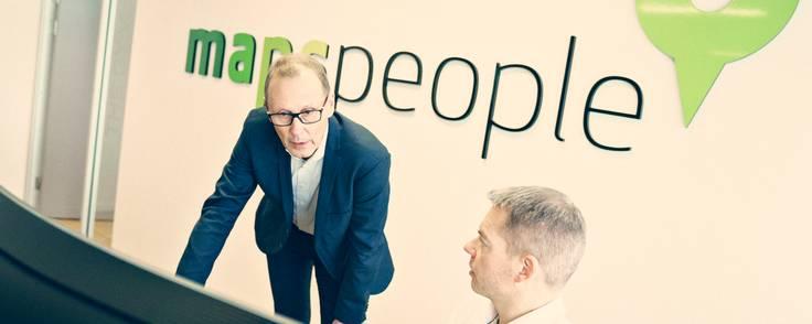 Michael Gram (tv.) er adm. direktør i MapsPeople, som nu vil på børsen. Foto: PR