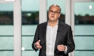 Søren Skou, adm. direktør i A.P. Møller-Mærsk, offentliggjorde i maj planen om et tilbagekøbsprogram på op til 31 mia. kr. Foto: Mærsk