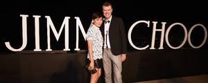 Luksusskomærket Jimmy Choo er populært blandt kendisser. På billedet ses Jimmy Choo's kreative direktør Sandra Choi og koncernchef Pierre Denis. Foto: Jordan Strauss/Invision/AP