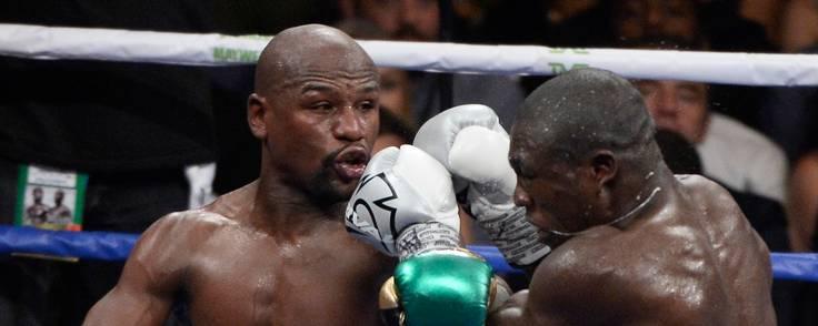 En af Mayweathers sidste boksekampe var i Las Vegas mod Andre Berto. Foto: Gene Blevins/Associated Press
