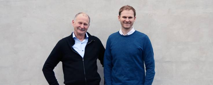 Firmaet Fischer Lighting er en familiedrevet virksomhed med Stig Elmvang (tv) og Lars Elmvang i front.  Foto: Fischer Lighting