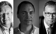 Fra venstre: Anders Heide Mortensen, Tommy Ahlers og Jens Klarskov