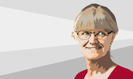 Nina Smith, bestyrelsesformand i Foreningen Nykredit. Illustration: Anders Vester Thykier.