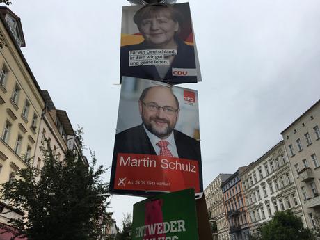 Valgplakater i Berlin. Foto: Maria Kehlet