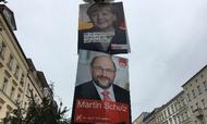 Tyskerne stemmer i dag. Angela Merkel er favorit, men man ved aldrig med Martin Schulz Foto: Maria Kehlet