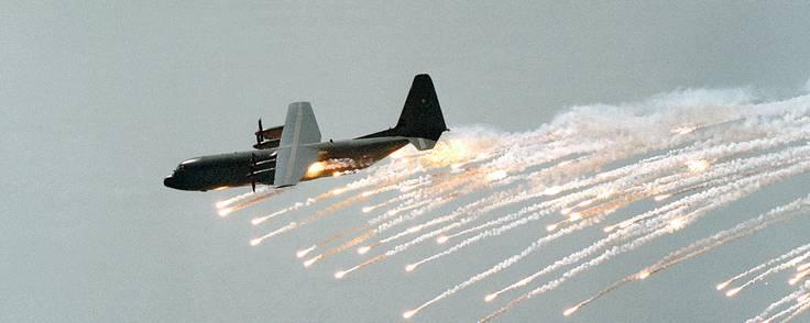 Termas selvbeskyttelsessystem bliver nu en standardløsning i de amerikanske F-16, A-10 og Hercules-fly. En mindre avanceret version af systemet fungerer i forvejen i mere end 1.500 Nato-fly, heriblandt de danske. Foto: Terma