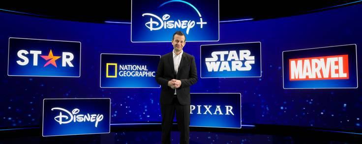 Branduniverset Star kommer til at optræde side om side med Disney, Pixar, Star Wars, Marvel og National Geographic. Her ses landechef Hans van Rijn ved præsentationen. Foto: Disney