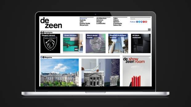 Dezeen blev stiftet som en blog i 2006, men har i dag udviklet sig til et digitalt medie med 3 mio. unikke brugere i Storbritannien, USA, Tyskland, Frankrig, Australien og alskens andre lande.