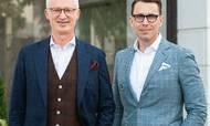 Siteimproves bestyrelsesformand, Morten Hübbe (tv.), har ønsket en global profil til direktørposten og fundet frem til Shane Paladin ved hjælp af et par headhuntere.