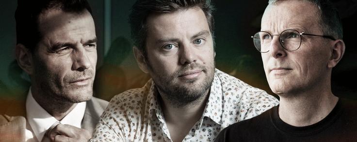 Jesper Buch (Just-Eat), Kasper Hulthin (Peakon) og Mikkel Hippe Brun (Tradeshift) er blandt den voksende skare af succesfulde techentreprenører, der nu geninvesterer deres tid og penge i Danmark. Fotocollage: Anders Thykier